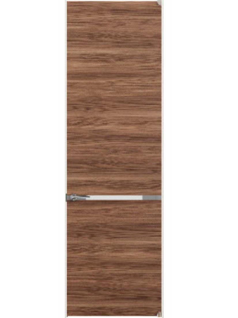 木製ドア ステンレスプレート入り ガラス入り