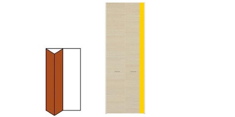 木製ドア クローゼット 折れ戸