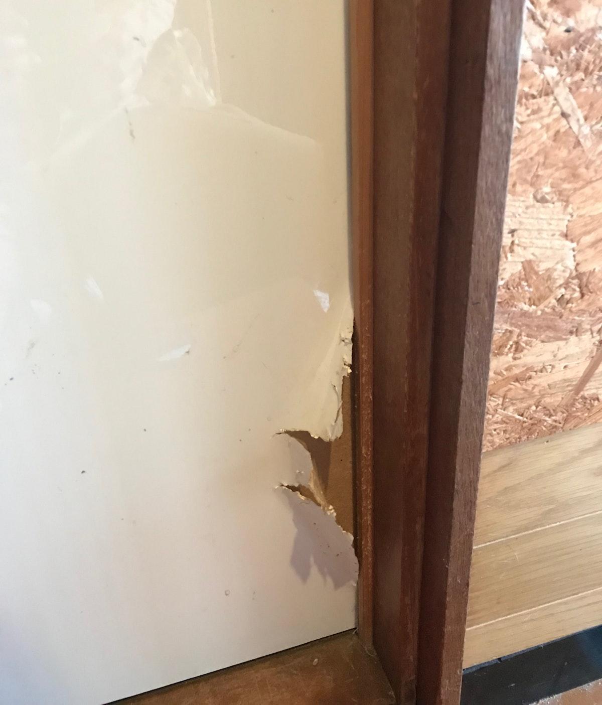 引き戸交換 猫の仕業 ドアの交換 建具注文