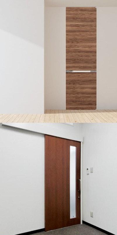 木製ドア ドアの注文 アウトセット引き戸