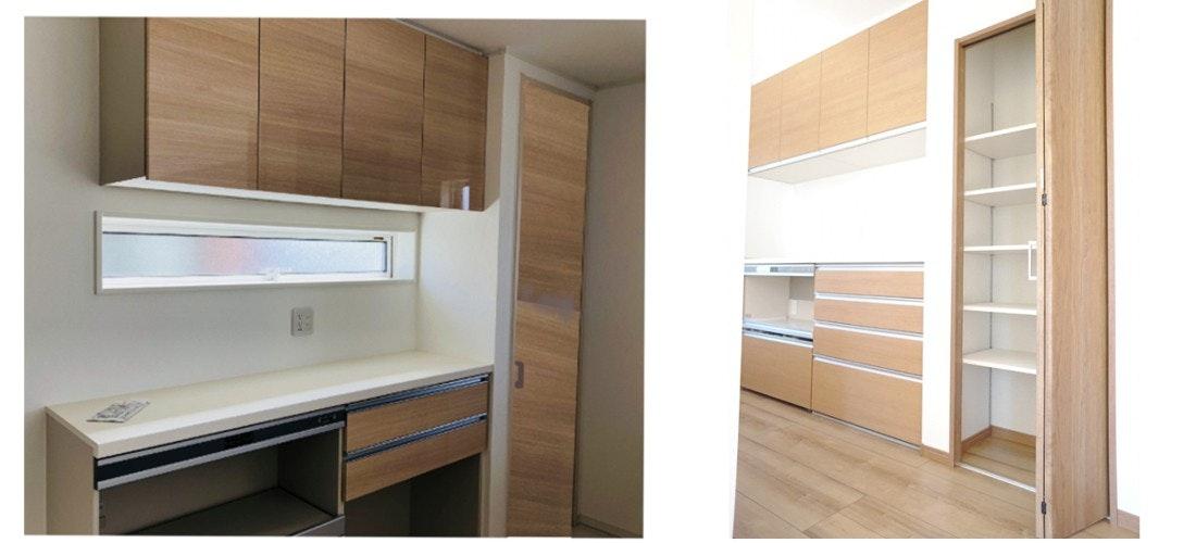 収納棚扉 キッチン扉 木製ドア 収納とドアを同じに ドアの注文 建具の注文 サイズオーダー出来る扉