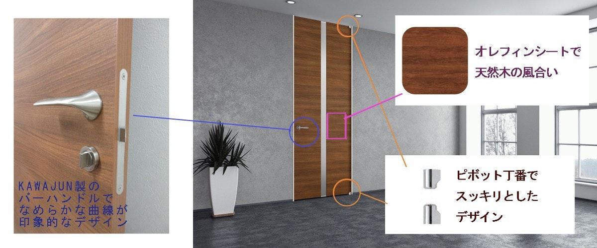 木製室内ドア 木製フラッシュドア 反らないドア リフォームのドア 注文住宅 マンションドア 建具 オーダー出来るドア 片開きドアの注文