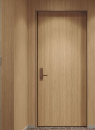 壁紙と同じ色のドア