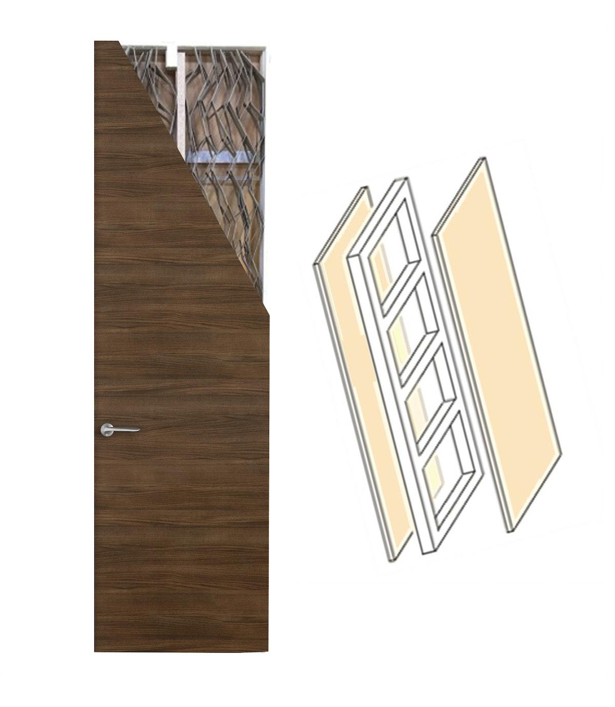 木製ドア フラッシュドアの構造 ドア注文