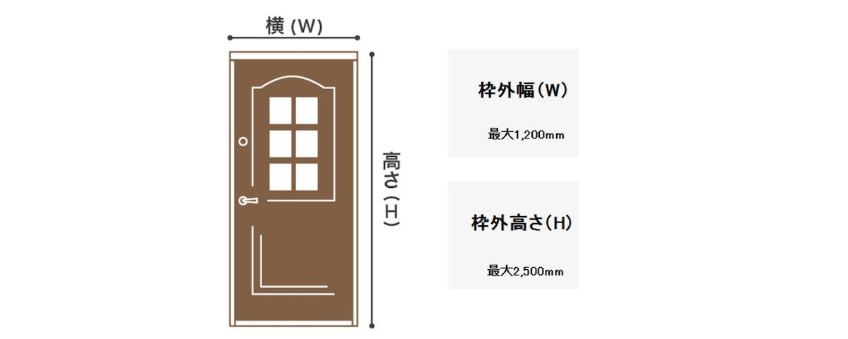 木製ドア 注文ドア サイズの測り方 室内ドア オーダードア ドアの注文 選べるドア