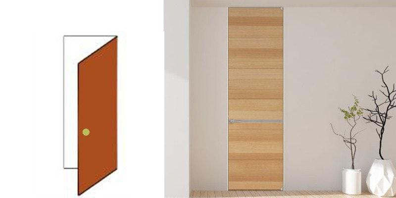 ドア注文 引き戸注文 木製ドアの片開き フラッシュドア フラットドア オーダードア ドアの注文 室内ドア 収納 クローゼット ドア交換 マンションのドア