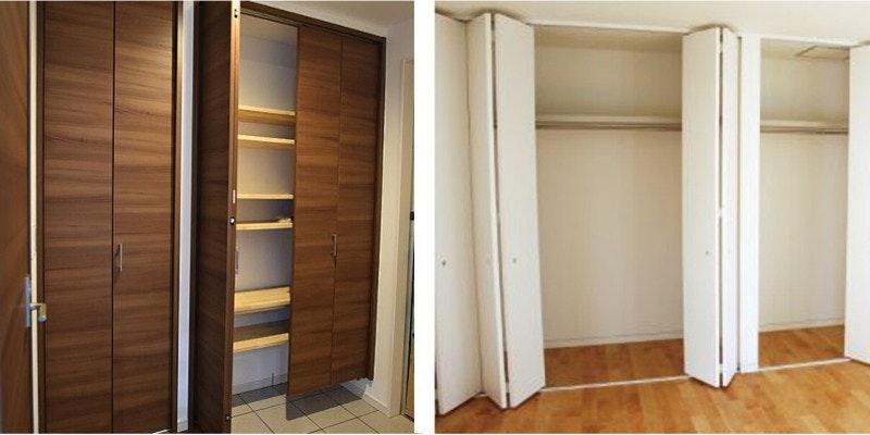 収納扉注文 寝室の木製ドア、クローゼットドア フラットドア フラッシュドア オーダードア ドアの注文 収納 プレート入りドア ドア交換