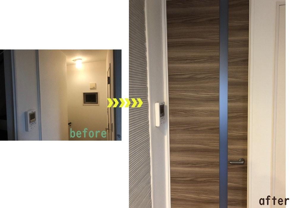 ドアの注文 オーダードア 片開きドア ドア施工事例