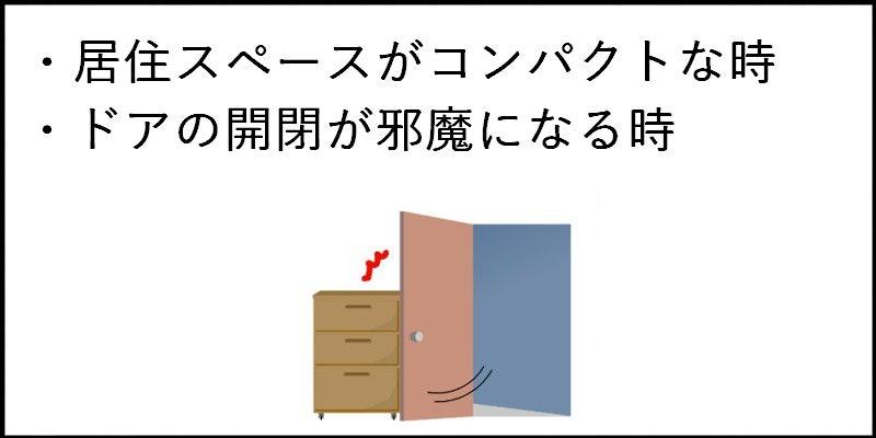狭い部屋用の扉 邪魔にならない扉が欲しい