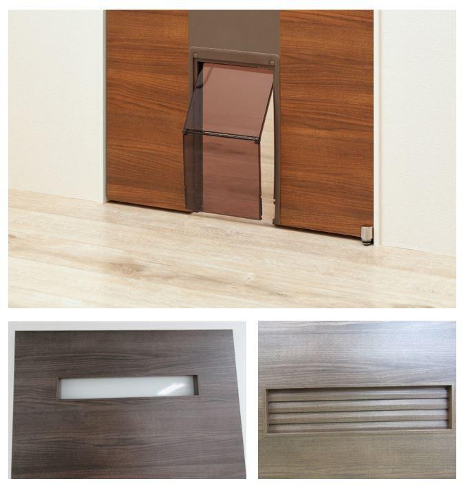 木製ドア オプション 注文ドア ペットドア